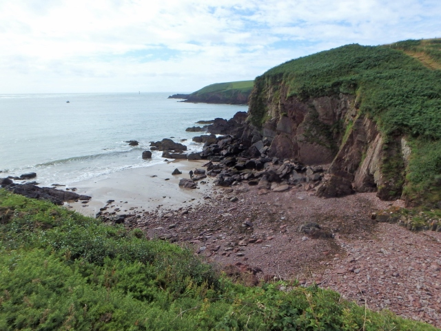 Looking down to Mill Bay ….