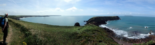 Looking out to Gateholm from the Coastal Path ….