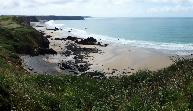 First view of Marloes Sands