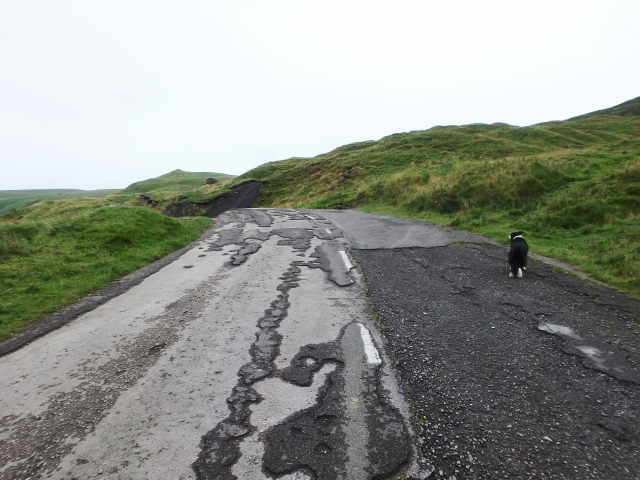 …. now a route only passable to walkers and mountain bikers