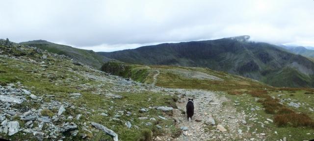 Heading for Carnedd Llewelyn from Yr Elen