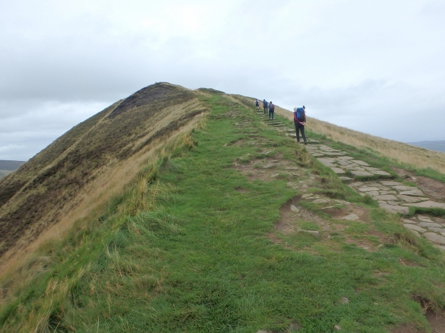 The path to the summit of Mam Tor