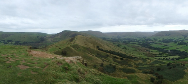 Looking back to Mam Tor from Back Tor