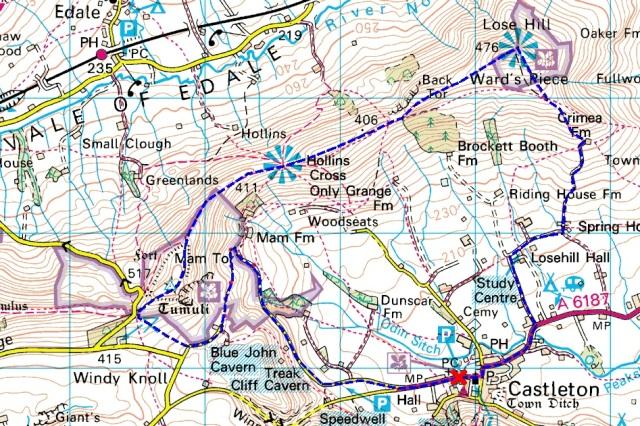 Castleton, Mam Tor and the Great Ridge