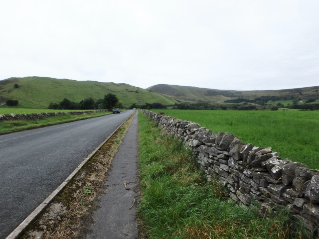 Setting out from Castleton, Mam Tor in the distance (centre)
