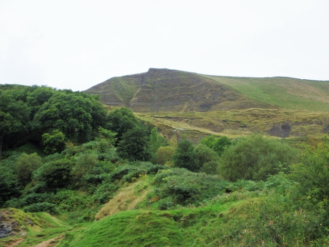 The East Face of Mam Tor, which gives the hill the title 'The Shivering Mountain'