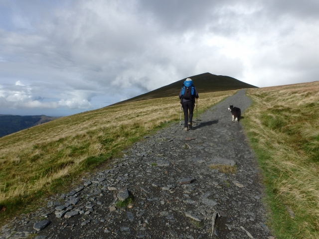 Heading for Skiddaw, with Little Man looming ahead