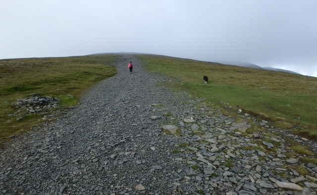 The last bit of height gain to the summit of Skiddaw