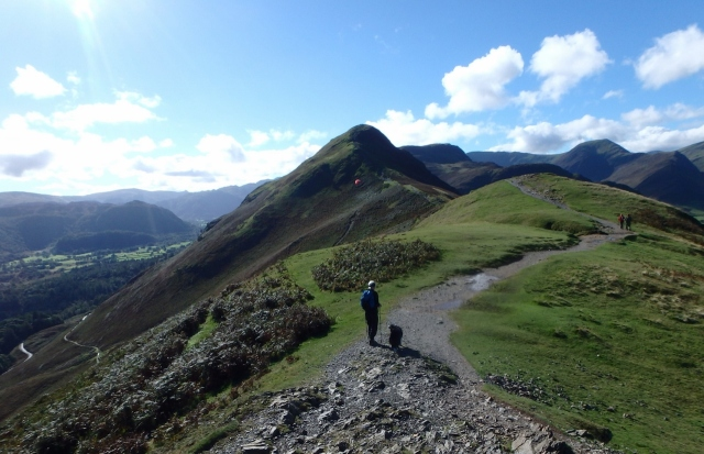 Heading south on the Cat Bells Ridge