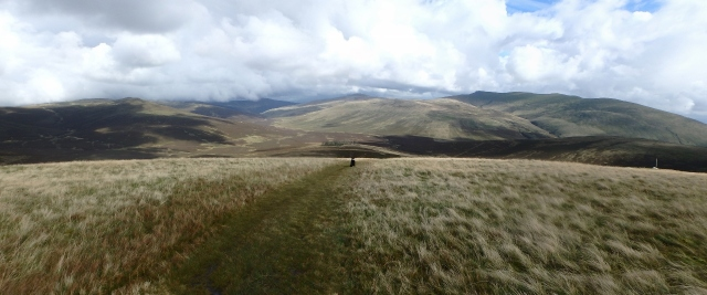 Heading down to Skiddaw House