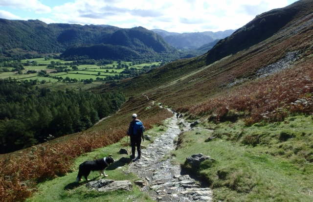 …. heading towards Manesty in the Borrowdale valley