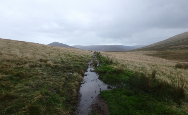 Looking back (north) towards Great Calva