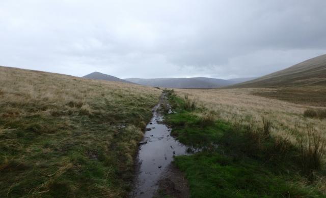 Looking back (north) towards Great Calva