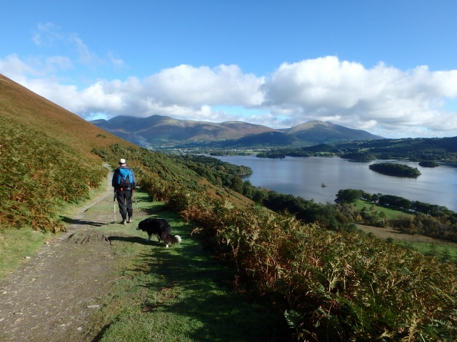 On the low east-side path, with Derwent Water to the right