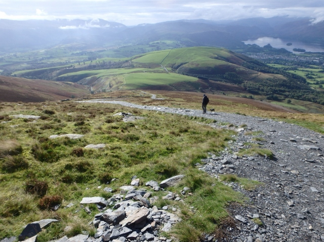 The view back towards Latrigg, with Derwent Water and Keswick to the right