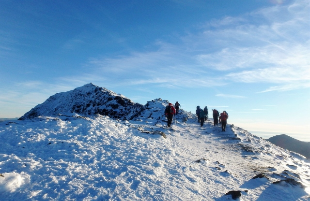 …. and more heading for the summit of Yr Wyddfa