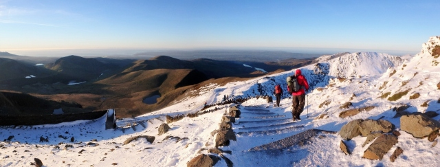 Time to head back – leaving the summit