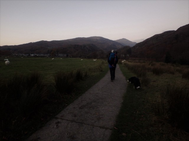 …. reaching Beddgelert with the dusk