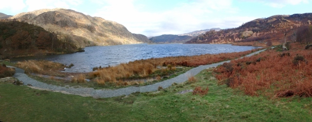 Llyn Dinas and the lakeside path