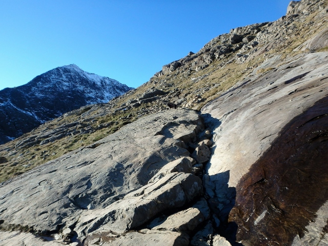 Not much snow on the PYG Track at this point ….