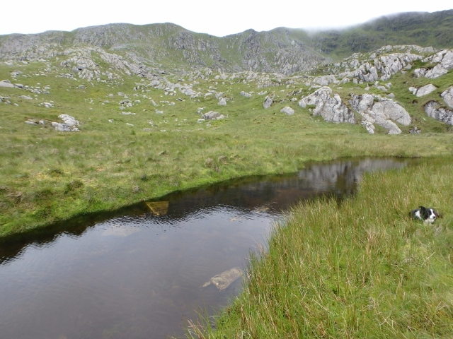 Aircraft wreckage in the Afon Eigiau