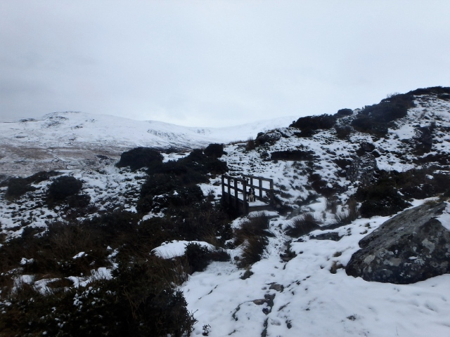 Early March 2016 – snow on the Carneddau, on the way out to Dulyn