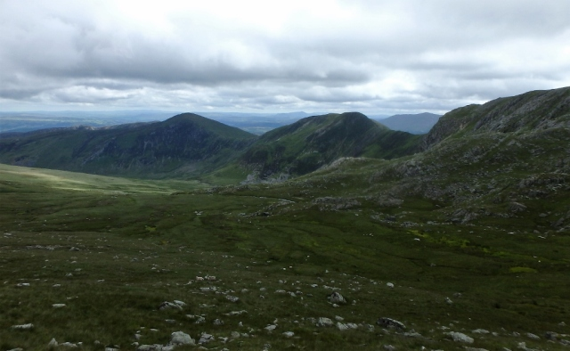 Left to right - Pen Llithrig y Wrach, Pen yr Helgi Du and Craig yr Ysfa
