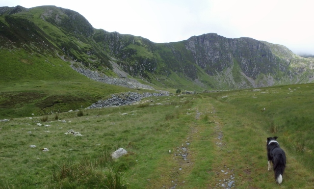 Cwm Eigiau and the crags of Craig yr Ysfa