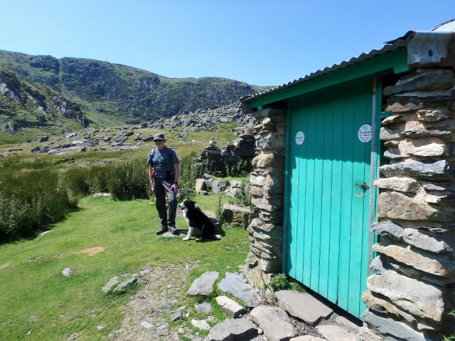The author and 'Mist' at the bothy in July 2016 ….